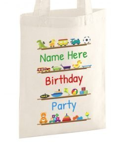 kids birthday party tote bag