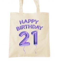 Happy 21st Birthday Tote Bag