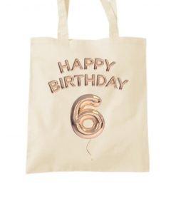Happy 6th Birthday Tote Bag
